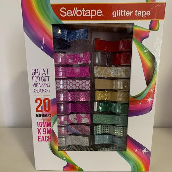 x20 Sellotape Glitter Tape Gift Box